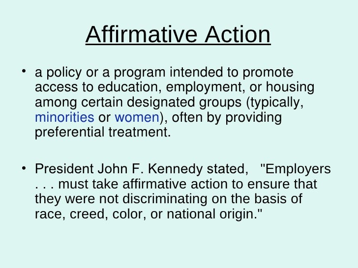 an analysis of the policy of affirmative action in education The future of affirmative action  state, and federal policy makers, civil rights advocates, and mem-  5 new rules for affirmative action in higher education.