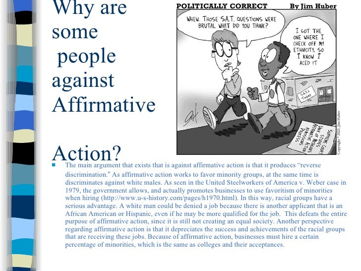 argumentative essay against affirmative action Arguments for and against affirmative action essay example 893 words 4 pages  every year at the same time, thousands of students face the same difficult.