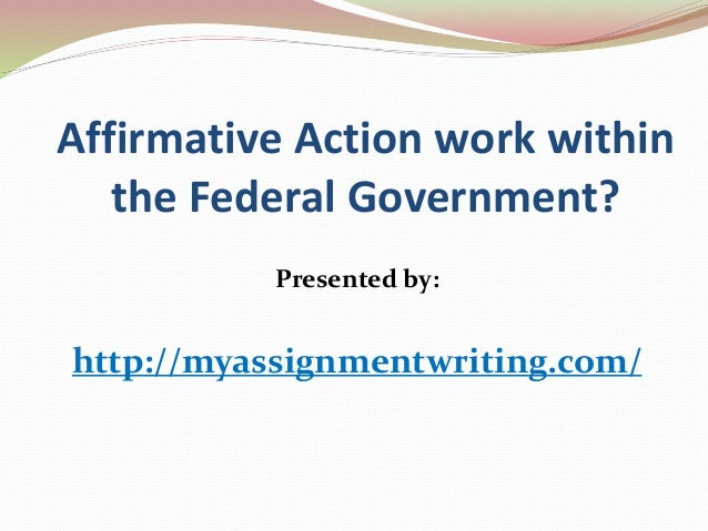 Essay on Affirmative Action