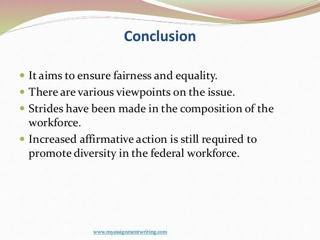 hr affirmative action essay Affirmative action is a program required of federal contractors to ensure equal employment opportunity it requires good faith efforts to achieve and maintain a workforce where minorities and women are represented at a level proportionate with the labor pool.