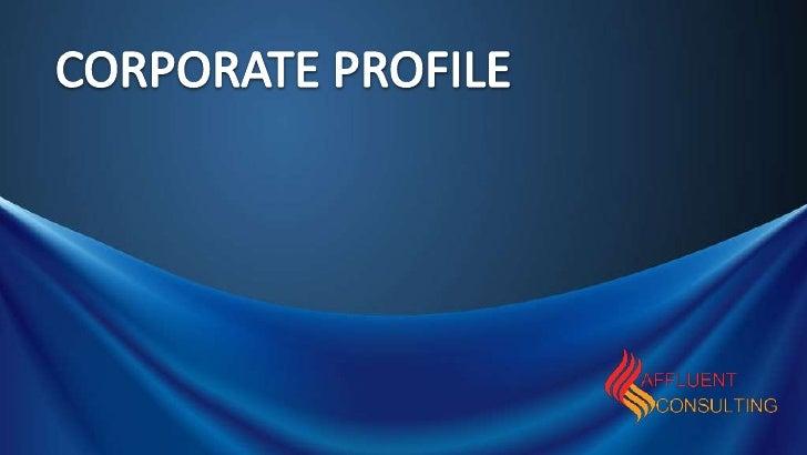 Affluent Profile Brief