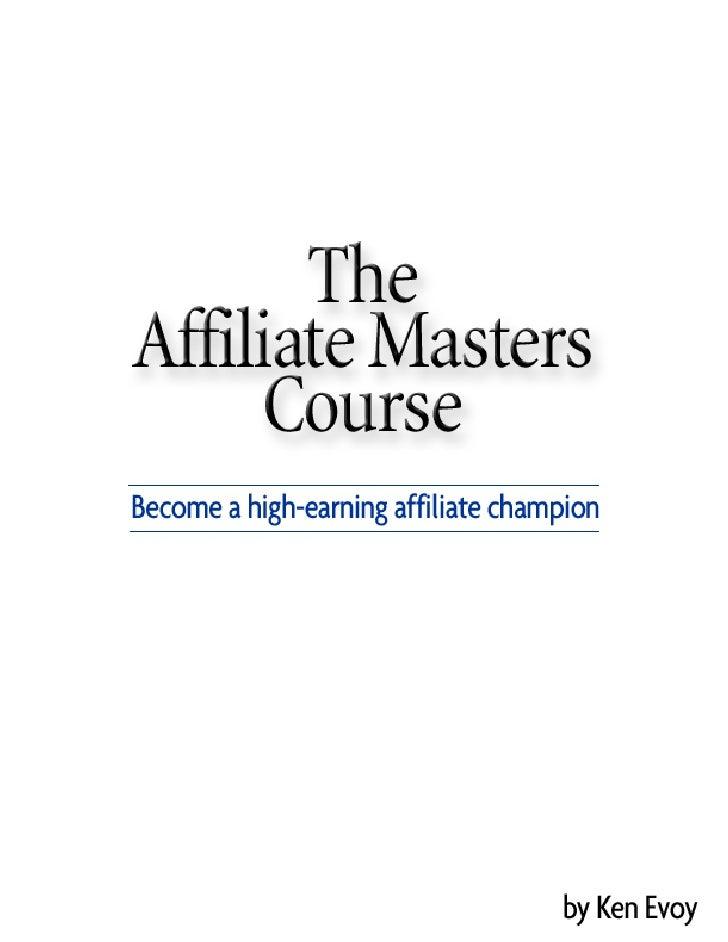 Affiliate Masters Course