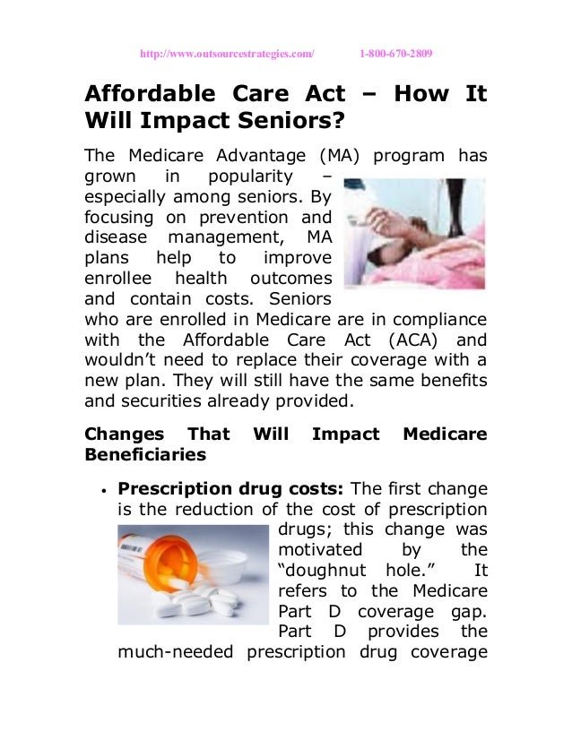 Affordable care act – how it will impact seniors