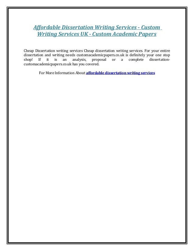Academic Writing Skills Dissertation