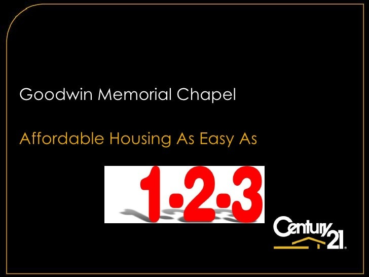 Goodwin Memorial ChapelAffordable Housing As Easy As