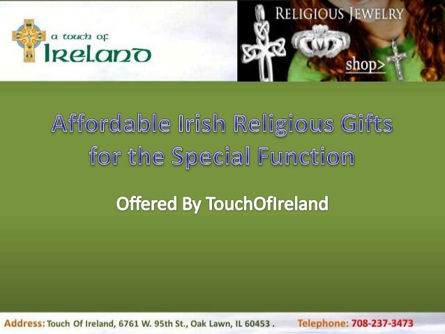 Affordable irish religious gifts for the special function