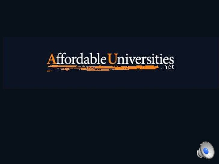 Affordable universities