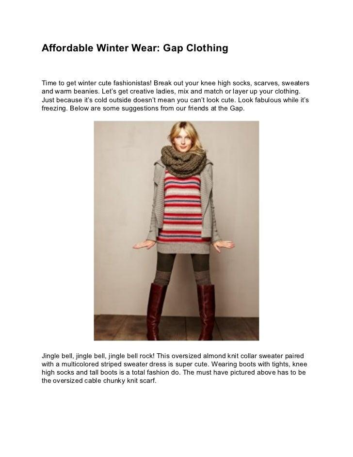 Affordable winter wear gap clothing