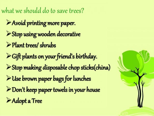 Advantages of growing trees essay