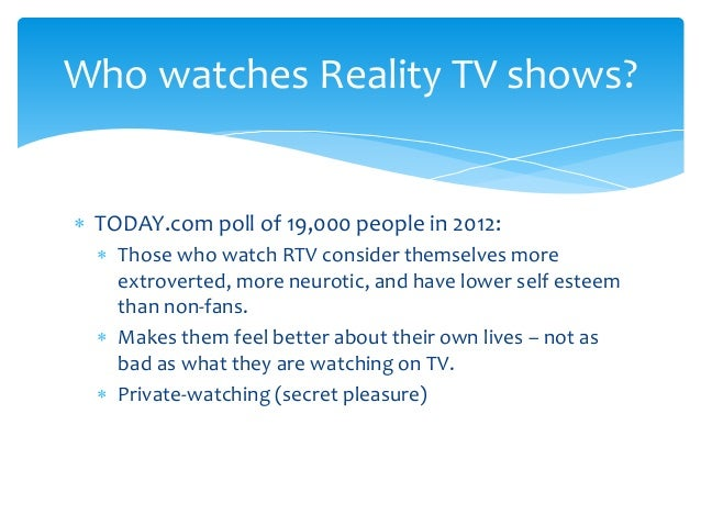 who watches reality tv shows today   poll of 19000