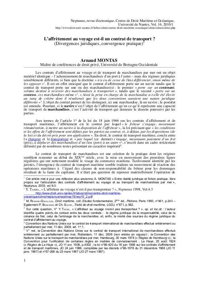 Neptunus, revue électronique, Centre de Droit Maritime et Océanique, Université de Nantes, Vol. 16, 2010/1 http://www.droi...