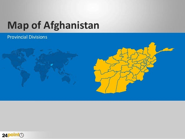 Afghanistan Map - Editable PPT Map