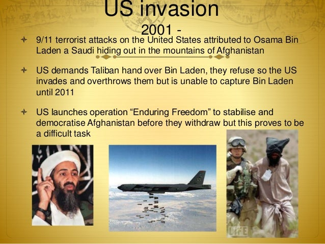 the invasion of afghanistan by us During the us-led invasion of afghanistan, osama bin laden a violent insurgency fought us troops following the invasion, as the united states struggled to impose law and order in iraq,.