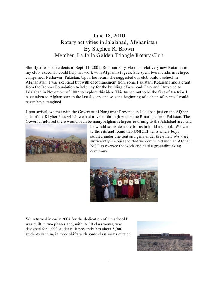 Afghanistan Document with pics
