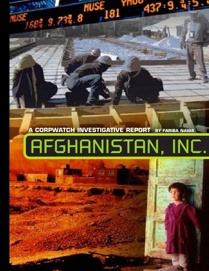 Afghanistan Inc,-Afghaniscam