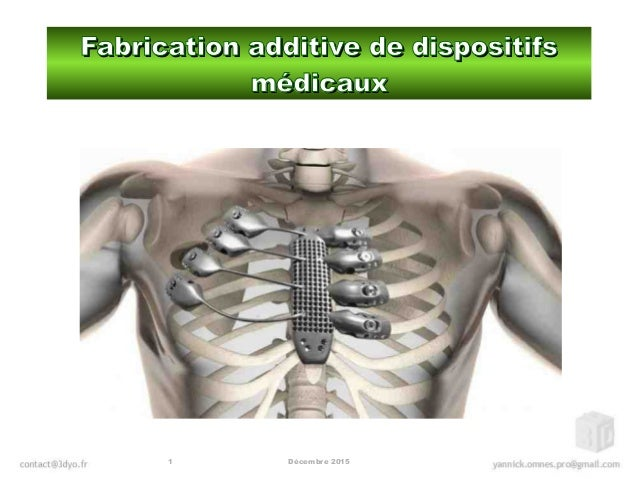 Décembre 20151 Fabrication additive de dispositifsFabrication additive de dispositifs médicauxmédicaux