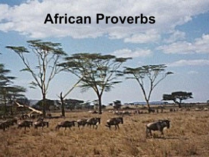 Afican Proverbs