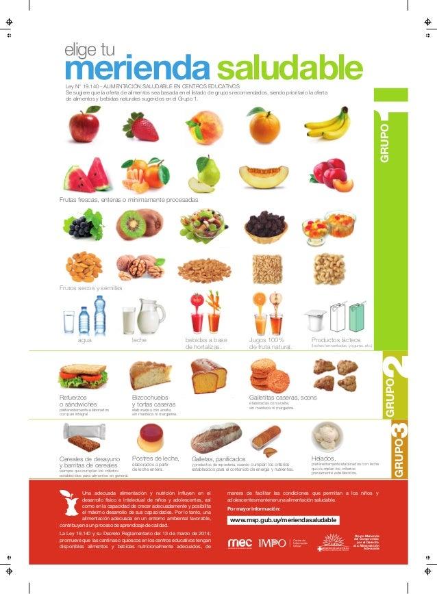 Afiche merienda saludable