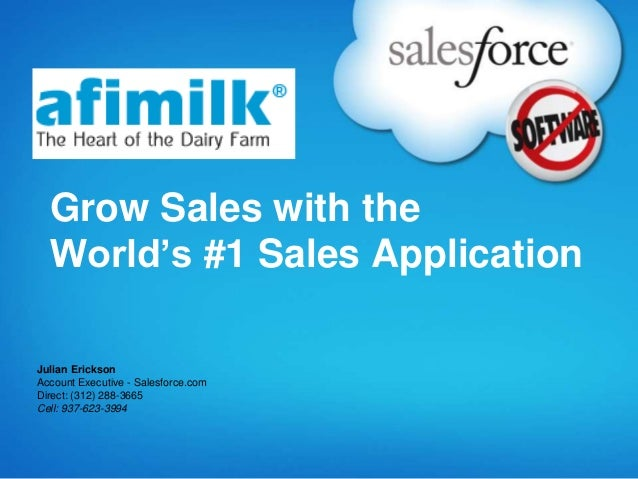 Grow Sales with the  World's #1 Sales ApplicationJulian EricksonAccount Executive - Salesforce.comDirect: (312) 288-3665Ce...