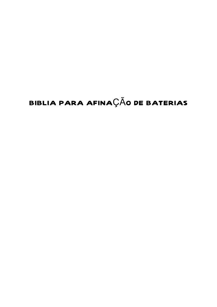 BIBLIA PARA AFINAÇÃO DE BATERIAS