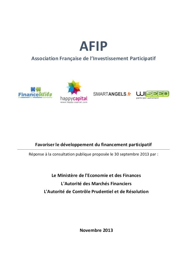 Afip   réponse consultation finance participative - 15-11-2013 (1)