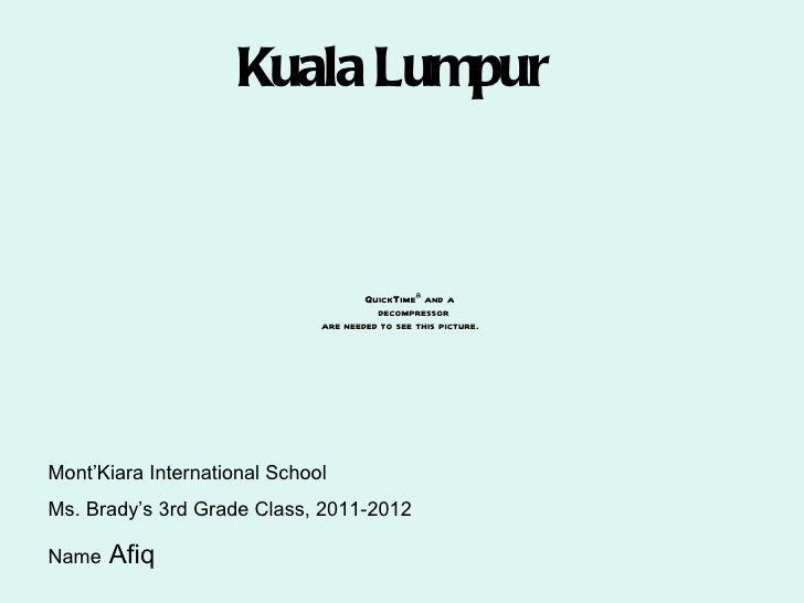 Afiq kuala lumpur book