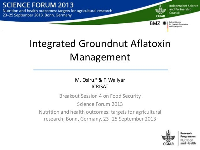 Integrated groundnut aflatoxin management