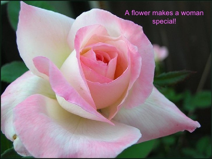 A flower makes a woman special!