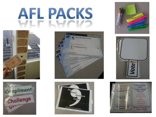 Afl packs by Sian Carter