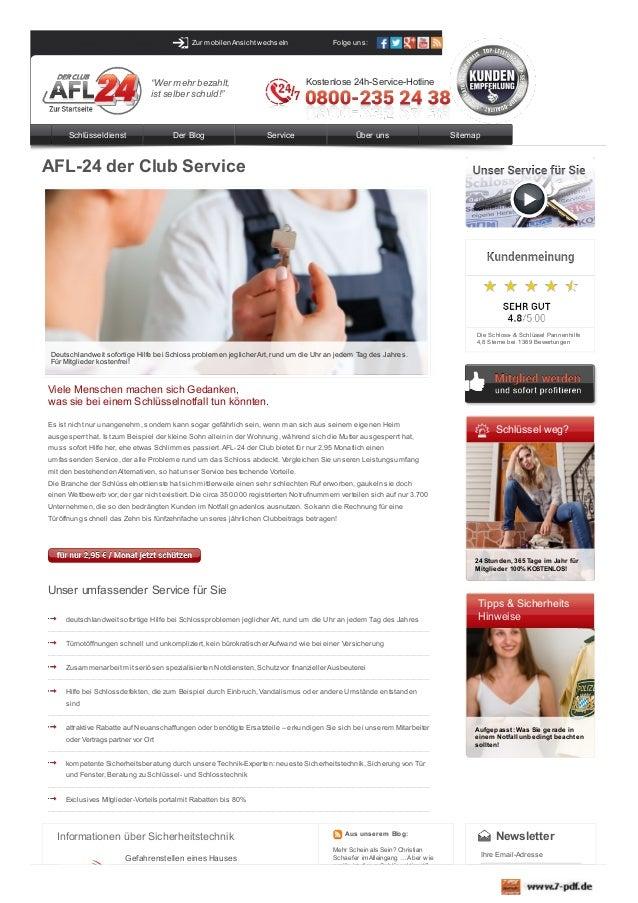 """Zur mobilen Ansicht wechseln  Kostenlose 24h-Service-Hotline  """"Wer mehr bezahlt, ist selber schuld!""""  Schlüsseldienst  Der..."""