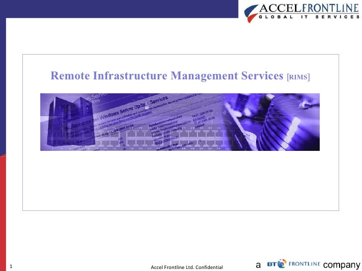 Remote Infrastructure Management Services  [RIMS]