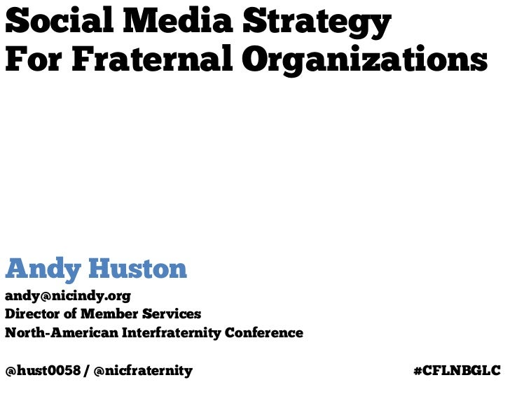 Social Media Strategy for Fraternal Organizations at @AFLV's #CFLNBGLC