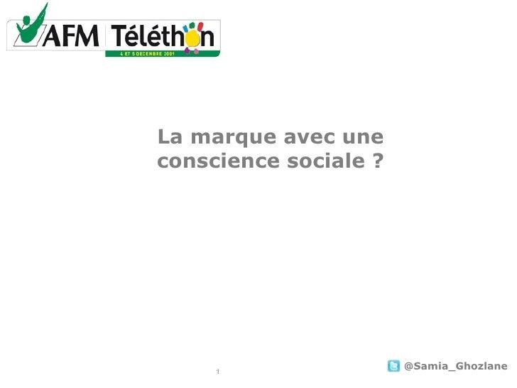 """AFM : """" La marque avec une conscience sociale?"""" (PARIS 2.0, Sept 2009)"""