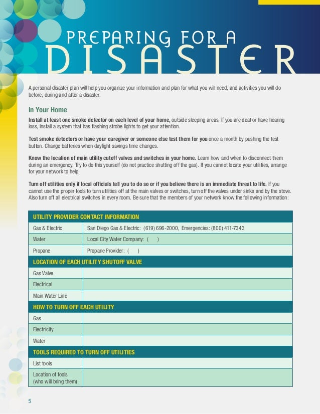 disaster preparedness plan essay writing