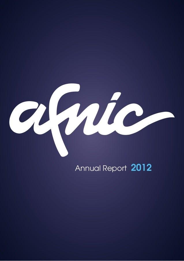 Afnic Annual Report 2012