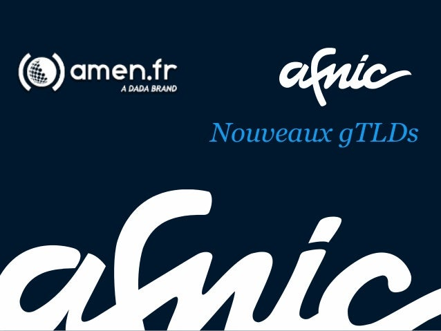 Amen.fr - Afnic Nouveaux GTLD