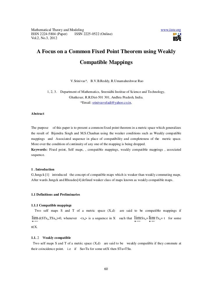 A focus on a common fixed point theorem using weakly compatible mappings