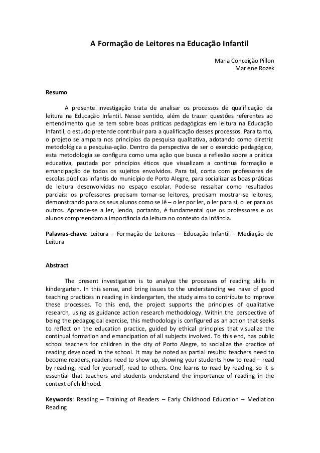 A Formação de Leitores na Educação Infantil                                                                  Maria Conceiç...