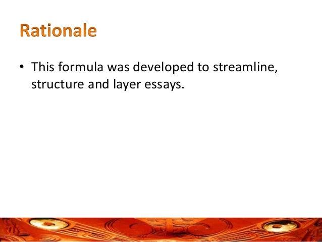 formula essay