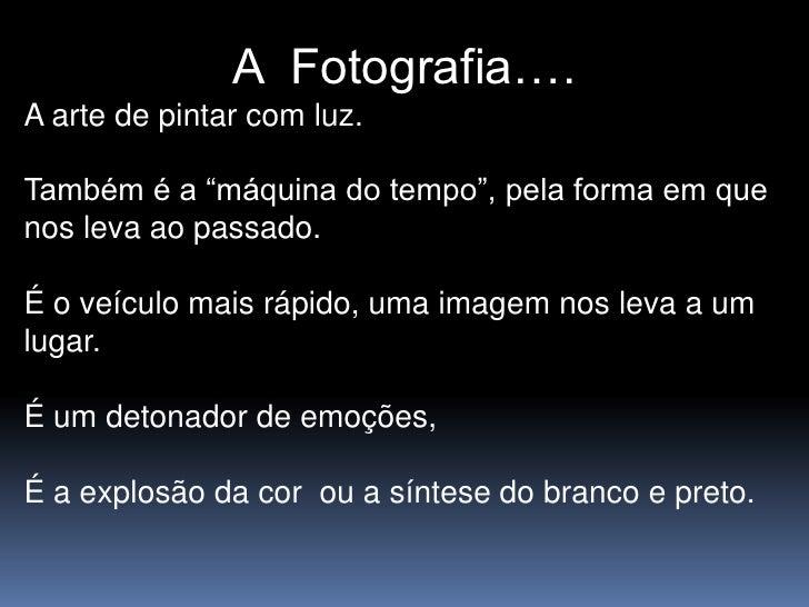 A fotografia