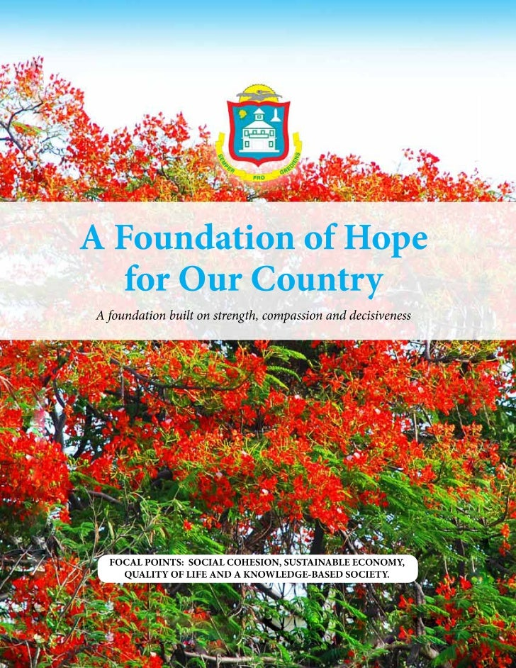 A Found at ion of Hop e for O u r C ou nt r yA Foundation of Hope   for Our CountryA foundation built on strength, compass...