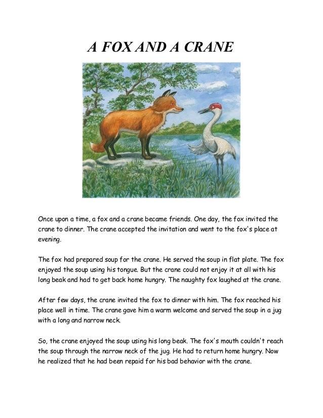 A fox and a crane