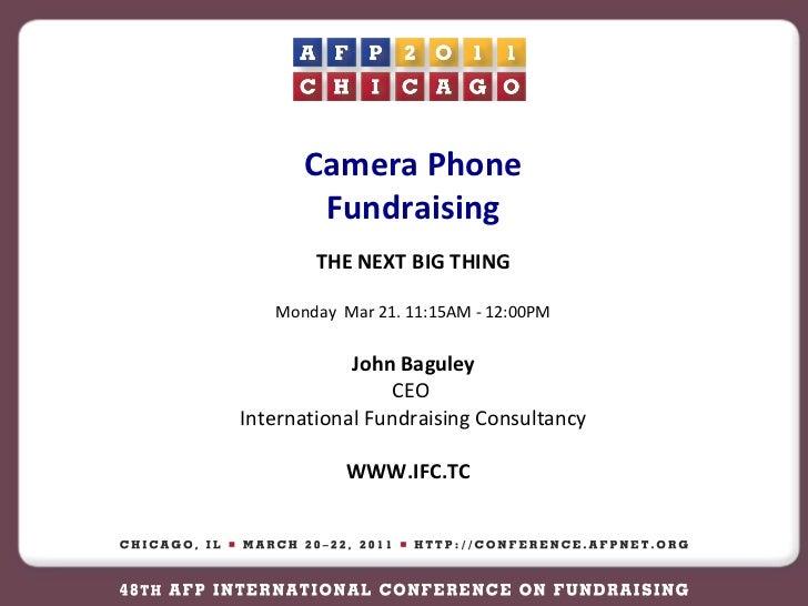 Afp 2011 Camera Phone Fundraising
