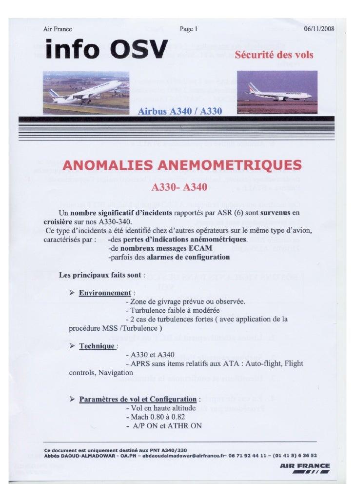 Memo to Air France pilots