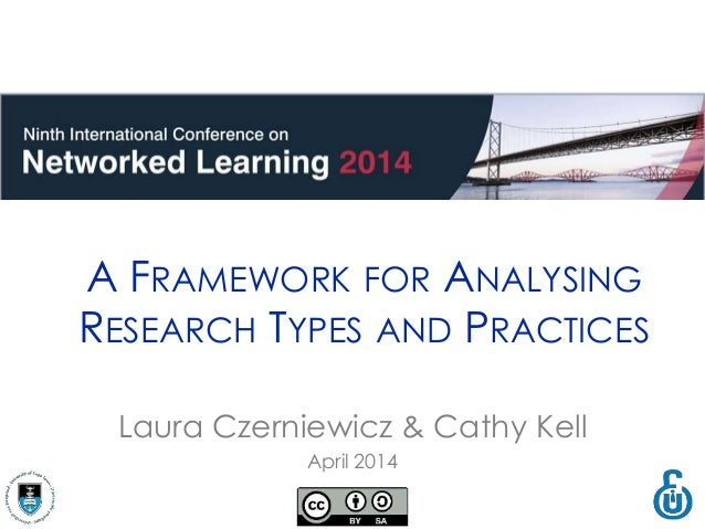 Laura Czerniewicz & Cathy Kell April 2014 A FRAMEWORK FOR ANALYSING RESEARCH TYPES AND PRACTICES