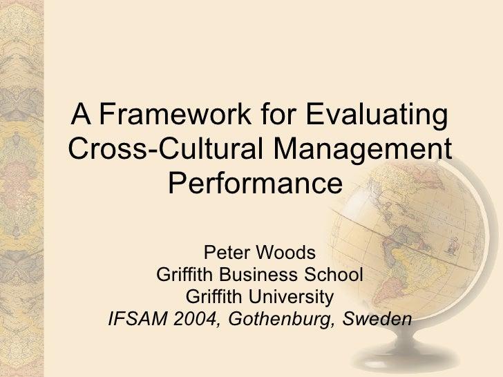 A Framework For Evaluating Cross Cultural Management