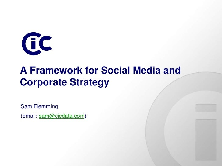 A framework for social media and corporate strategy