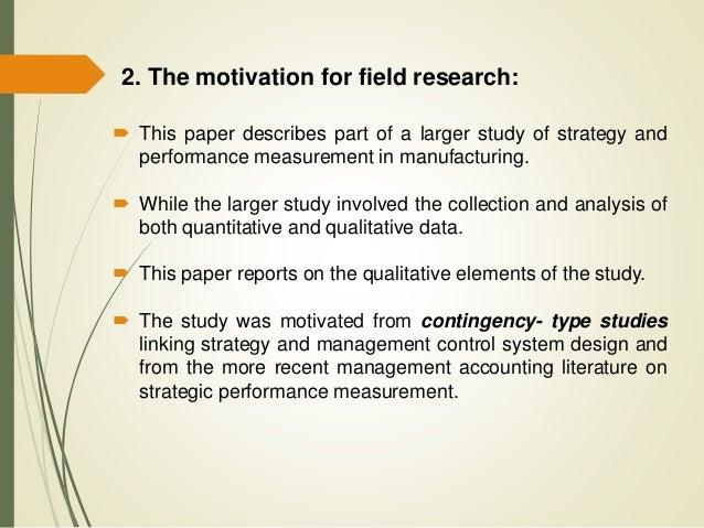 Field research paper
