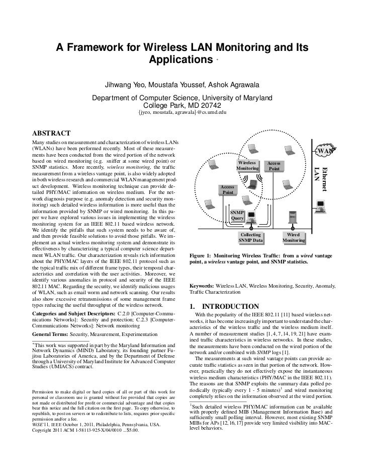 A Framework for Wireless LAN Monitoring and Its                              Applications                                 ...