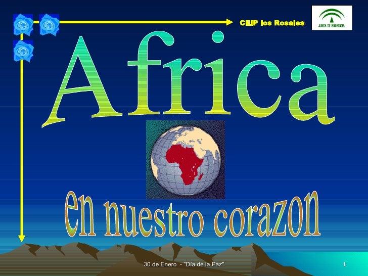 Africa en nuestro corazon CEIP los Rosales